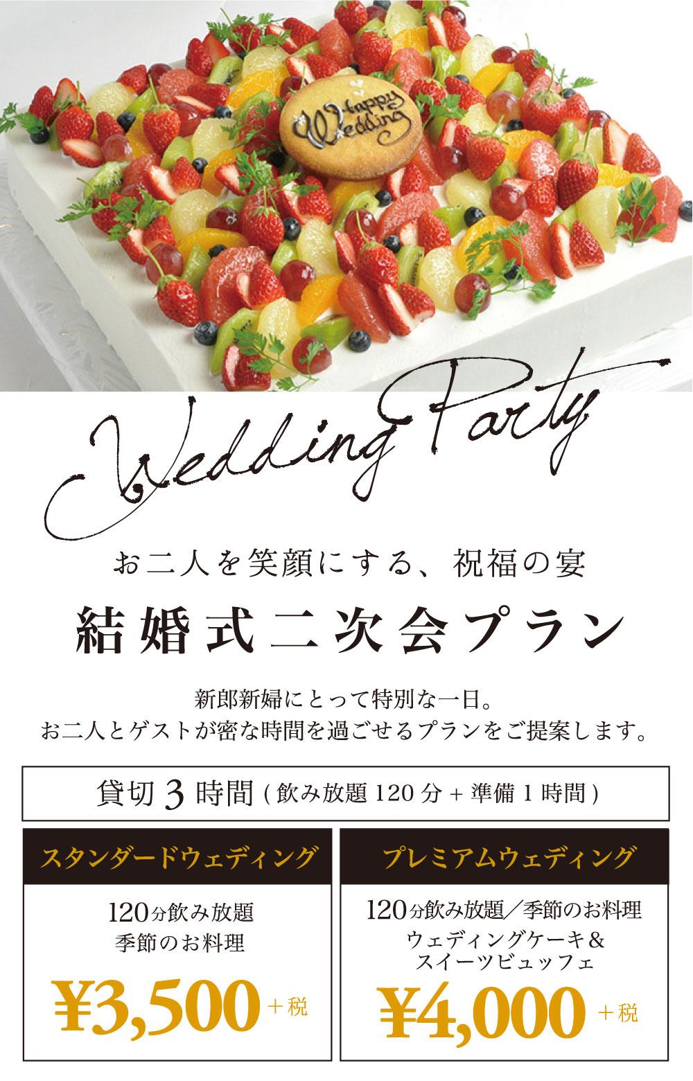 ウェディングプラン 結婚式2次会プラン